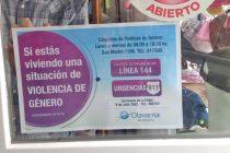 Violencia de Género: los comercios  exhiben cartelería informativa