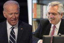 Biden le deseó una pronta recuperación a Alberto Fernández