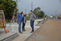 El Intendente recorrió la obra de repavimentación de Avenida Ituzaingó