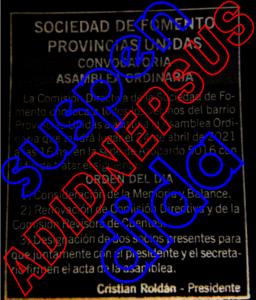 Se suspendieron las elecciones para