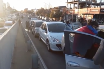 Varios autos protagonizaron un choque en cadena