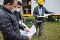 Aguilera recorrió el inicio de las obras del nuevo edificio para el Jardín de Infantes 928 del Barrio AOMA