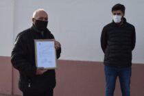 Bruno Cenizo entregó Ordenanza del HCD en Colonia Nievas