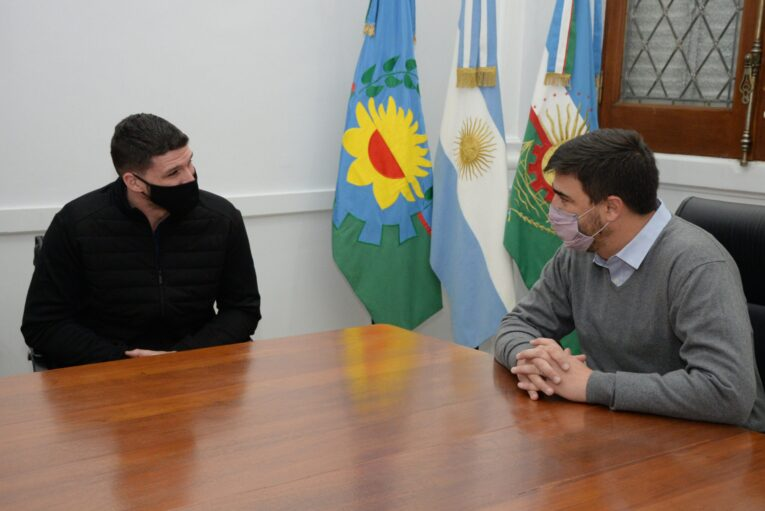 El intendente Ezequiel Galli recibió