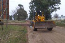 En barrio Matadero se realizan trabajos de mantenimiento de calles