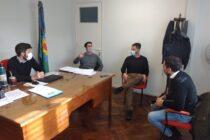Hilario Galli y Bruno Cenizo recibieron al concejal Bernardo de 25 de Mayo