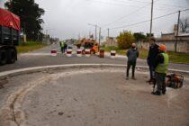Se realiza la construcción de una nueva rotonda en Trabajadores e Ituzaingó
