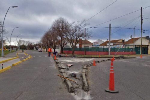 Mano única en Brown: se realiza la construcción de un distribuidor de tránsito