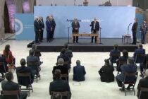 Alberto Fernández tomó la jura a los nuevos ministros y convocó a la militancia