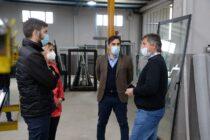 En el día de la industria Ezequiel Galli visitó Aberturas Clementi