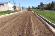 Obras de mantenimiento de calles en barrio Pickelado