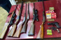 Realizaron un allanamiento y secuestraron varias armas de fuego